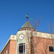 I just noticed that this credit union has an olde fashioned telephone on its weathervane.