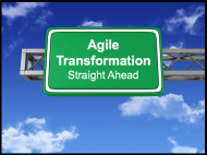 Agile Transformation Roadsign