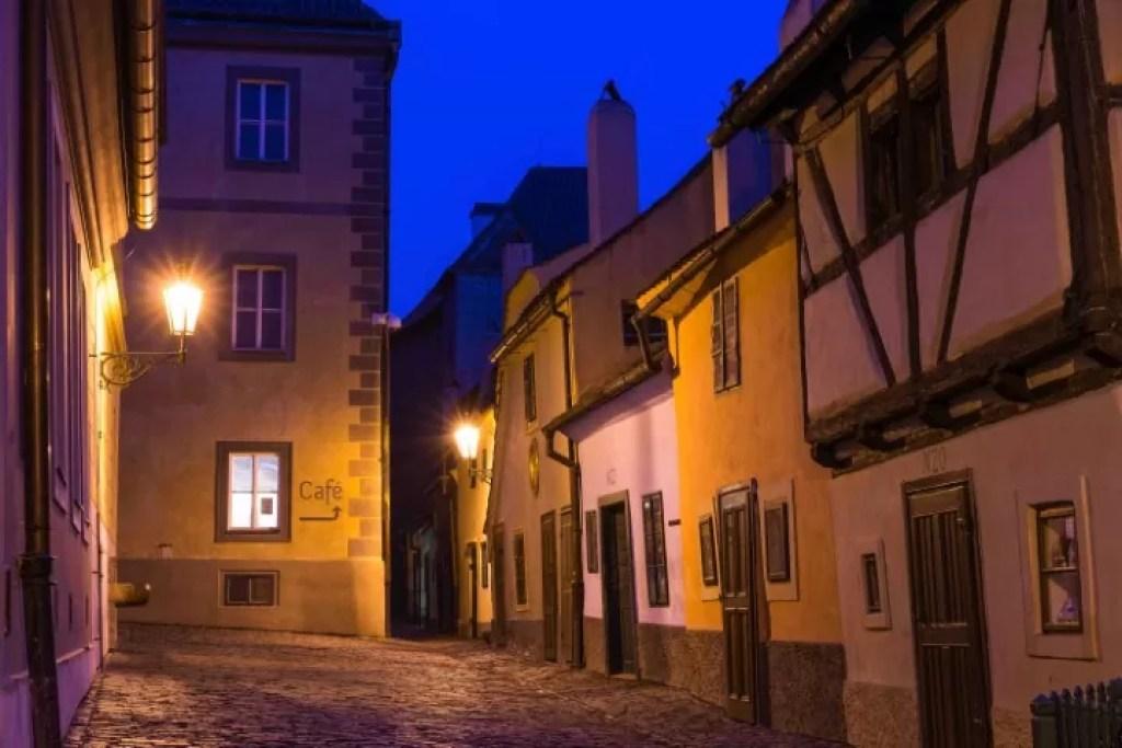 Golden Lane at night