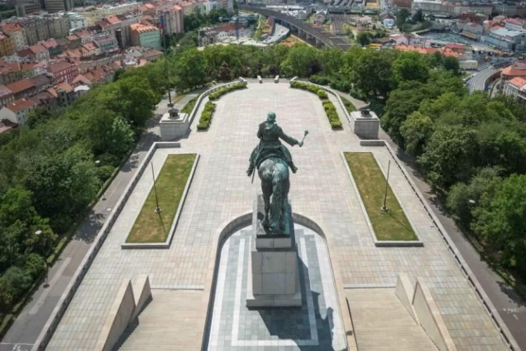Bronze Jan Žižka Statue on Vítkov Hill is the biggist equestrian statue in the world