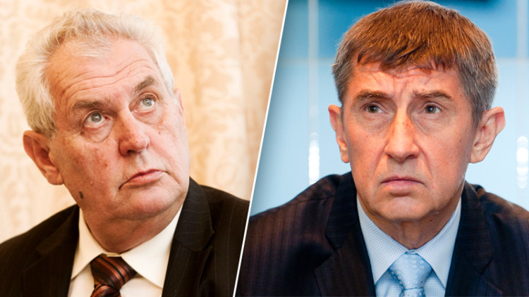 Andrej Babis and Milos Zeman
