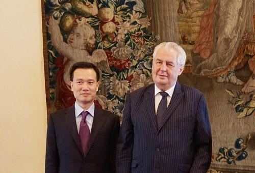 Milos Zeman Ye Jianming