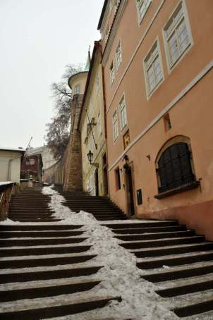 Prague stairs