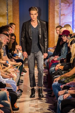 Sleek and cool leather blazer