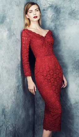 Red lace just like Valentino