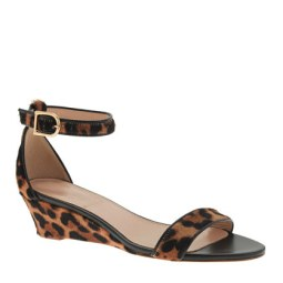 Lady like chic in leopard print sandals from J.Crew