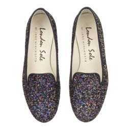 Glitter loafers from London/French sole