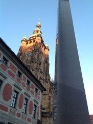 Prague Castle; Obelisk at the third courtyard