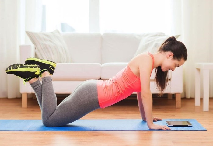 Tips for exercising at home