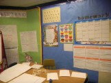I LOVED having all my walls as bulletin boards. I had so much space to hang things.