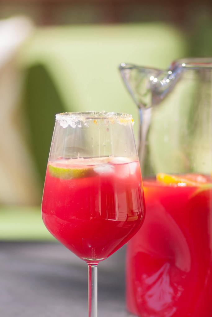 Black Currant Sangria is a wine cocktail made with Prairie Berry Winery's Lawrence Elk wine.