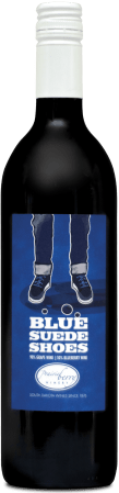 A bottle of Blue Suede Shoes