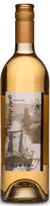 A bottle of Gold Digger wine.