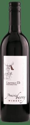 A bottle of Lawrence Elk wine.