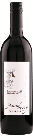 A bottle of Lawrence Elk wine.