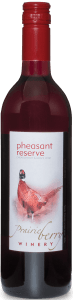 A bottle of Pheasant Reserve wine.