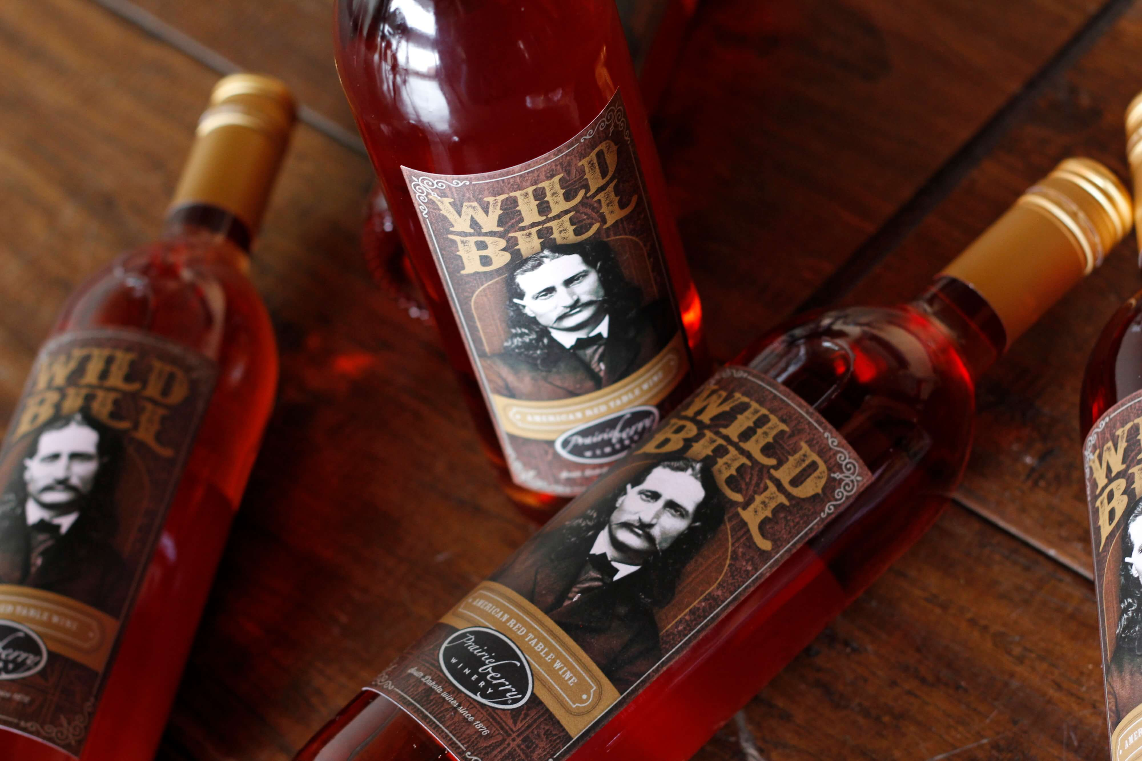 Named in honor of a Deadwood legend, Prairie Berry Winery's Wild Bill wine is made with native Catawba grapes.