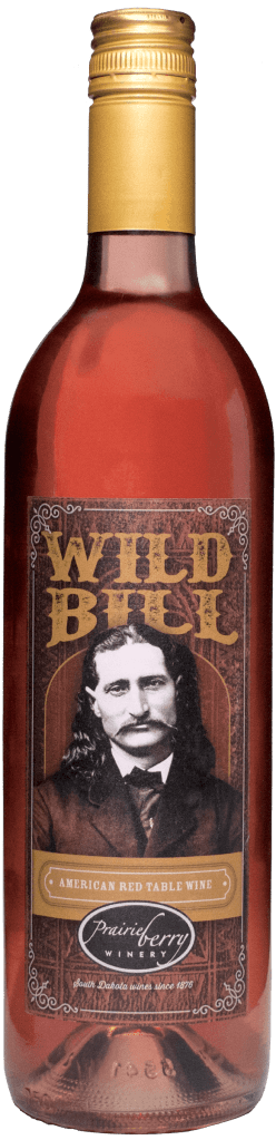 A bottle of Wild Bill wine.
