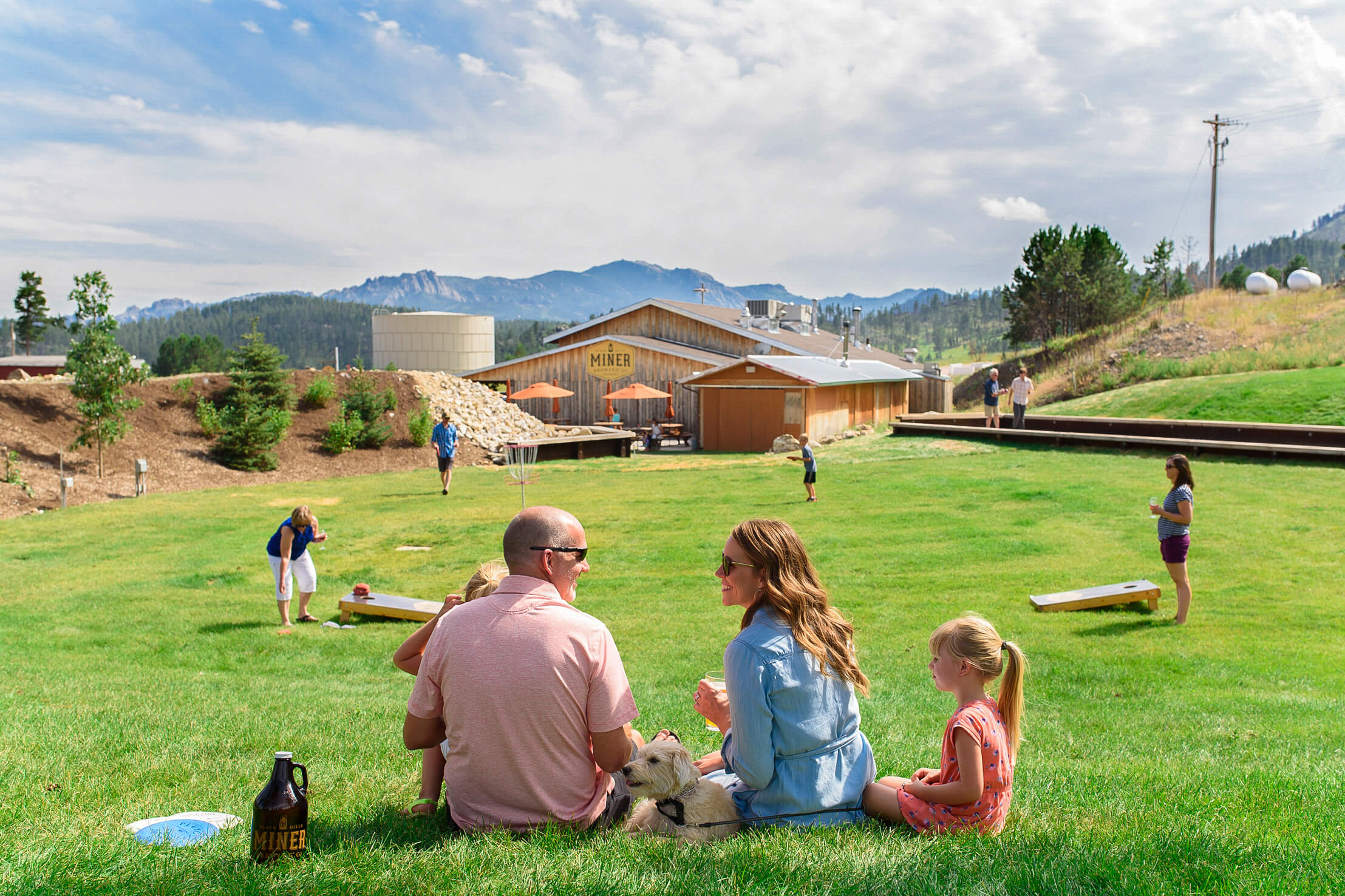 Enjoy cornhole, bocce ball, frisbee golf, and more on one of the pristine lawns on the Prairie Berry Winery campus
