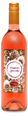 A bottle of Cranberry Apple wine