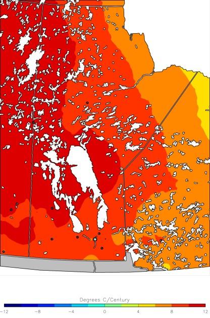 Jan Mean Temperature Trend (1950-2013)