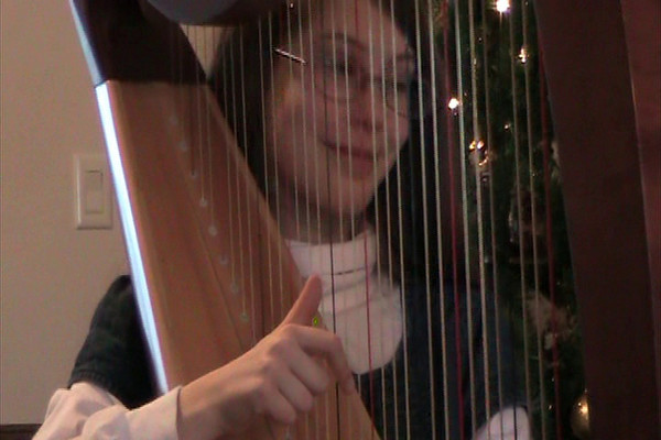 O Holy Night: Kaira on Harp 12/09Arrangement by Sylvia Woods