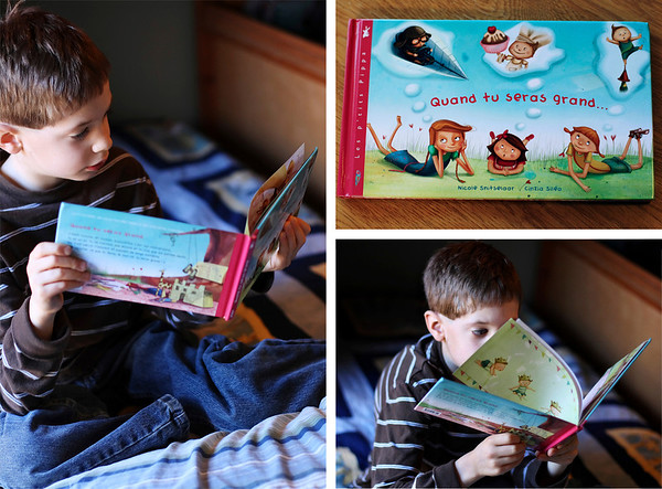 "Keegan, Enjoying ""his"" Book"