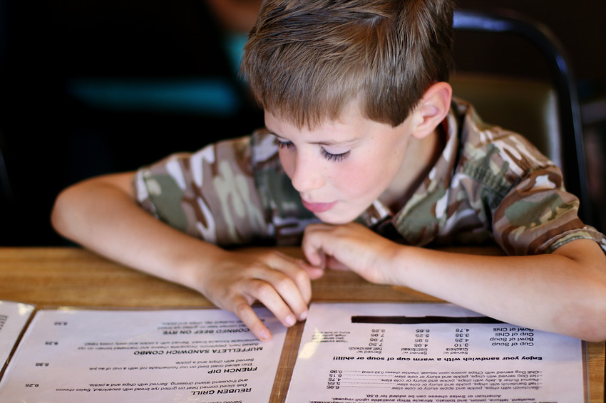 Kieran: Reading the Menu