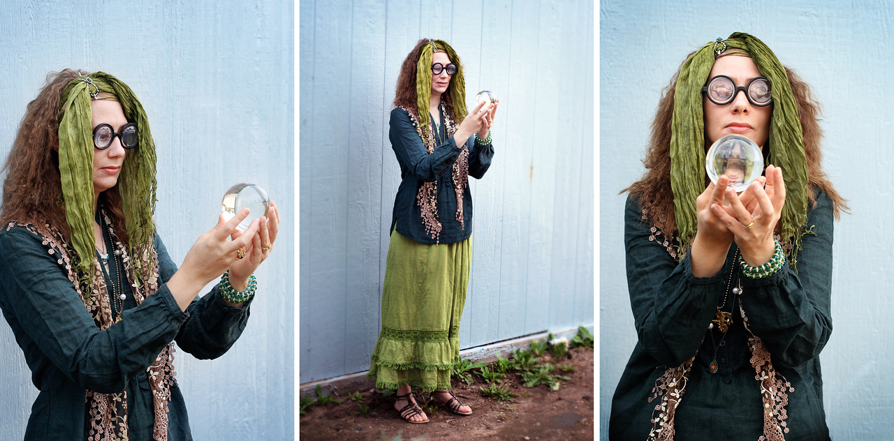 Yours truly, as Sybil Trelawney