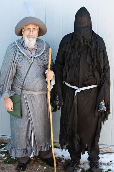 Gandalf the Grey (My dad) and Nazgûl (Ken)