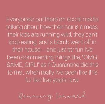 prairie glow bouncing forward quarantine quote