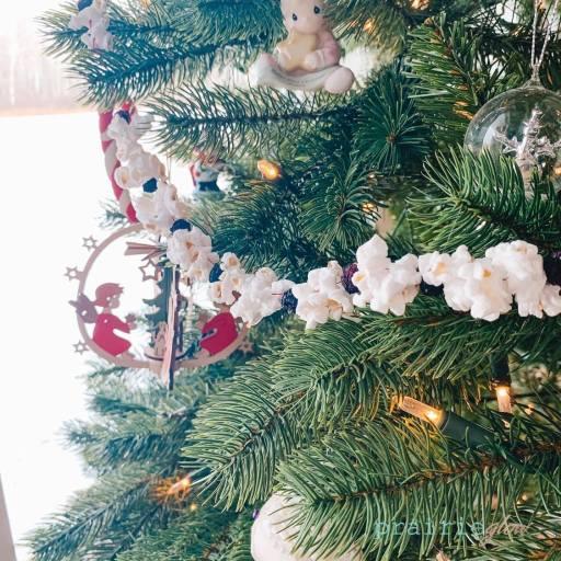 christmas garland popcorn prairie glow