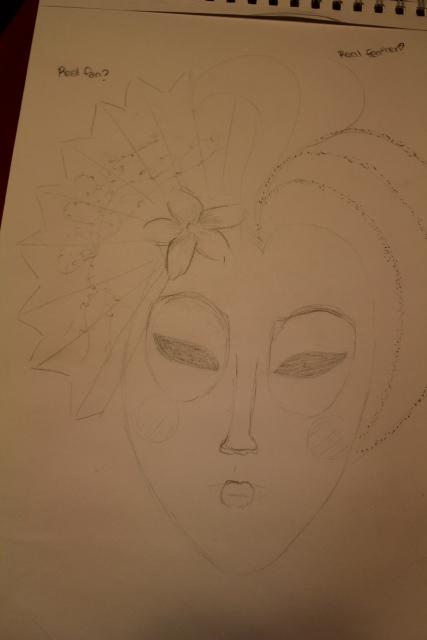 How to make a Geisha Mask... (1/6)