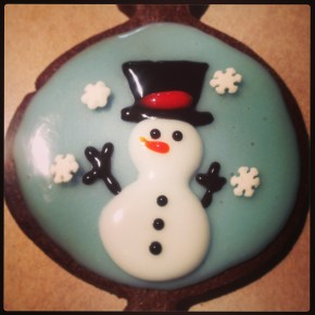 Snowman Cookies (free hand)