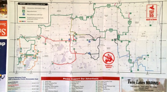 Get A Kenosha County Snowmobile Trail Map Prairieriders Net