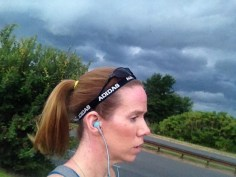 Running with a storm like this is not smart!