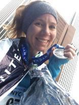 2015 United Airlines New York City Half-Marathon finish time of 2:01:28