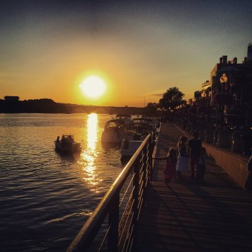 Sunset along the Georgetown Waterfront