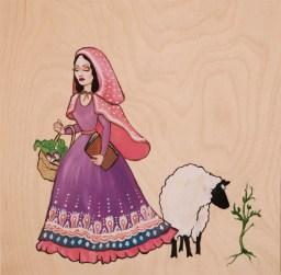 Shepherdess Going to Market