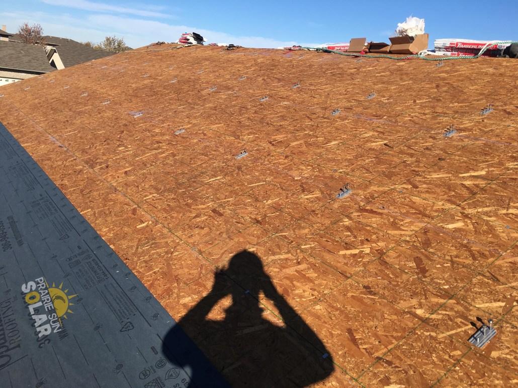 before an install at prairie sun solar