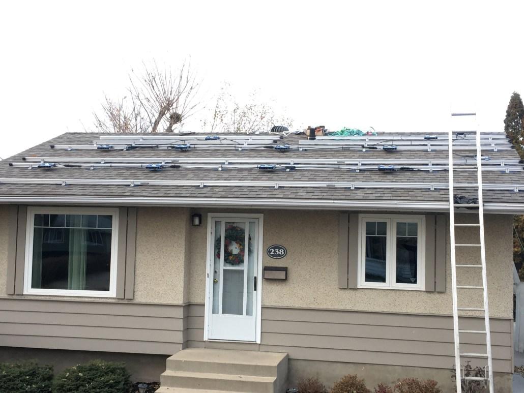 before the install - prairie sun solar regina-solar panel company