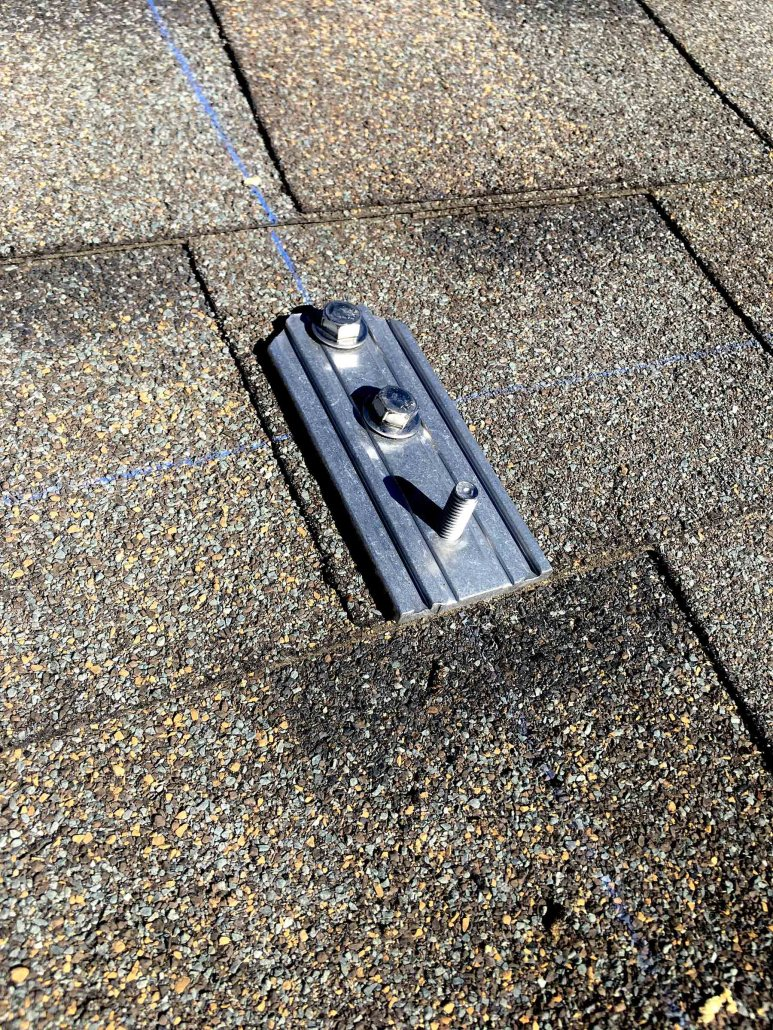 connecting solar panels to your roof