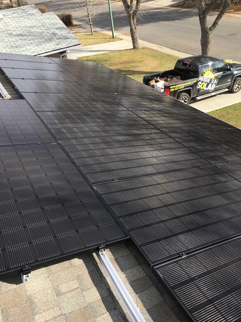prairie sun solar regina-solar panels installed