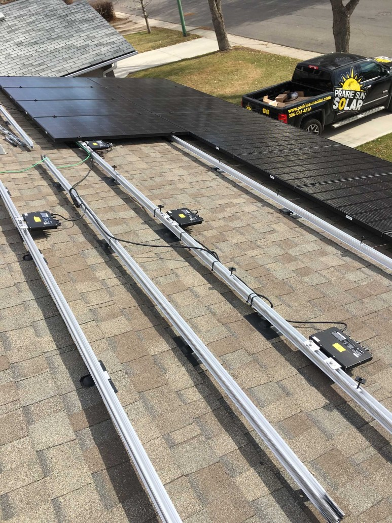 solar panels being installed in regina sk