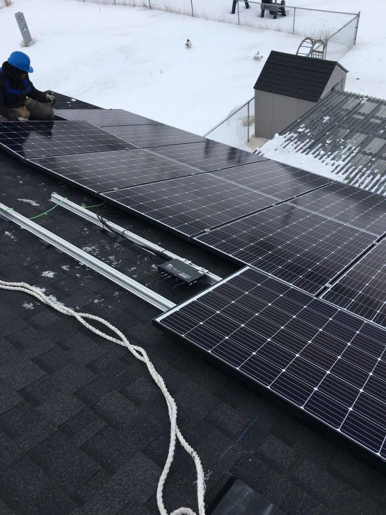 installing solar panels in winter in saskatchewan