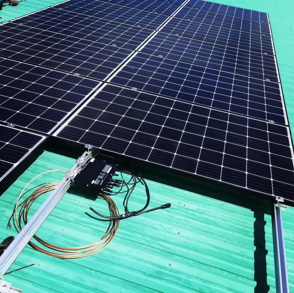 Rural solar panels installed