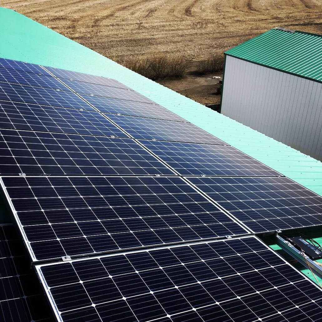 cost savings on the farm-install solar panels