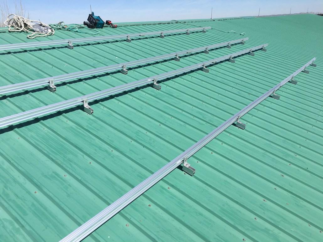 installing solar panels on a Farm, in Sask