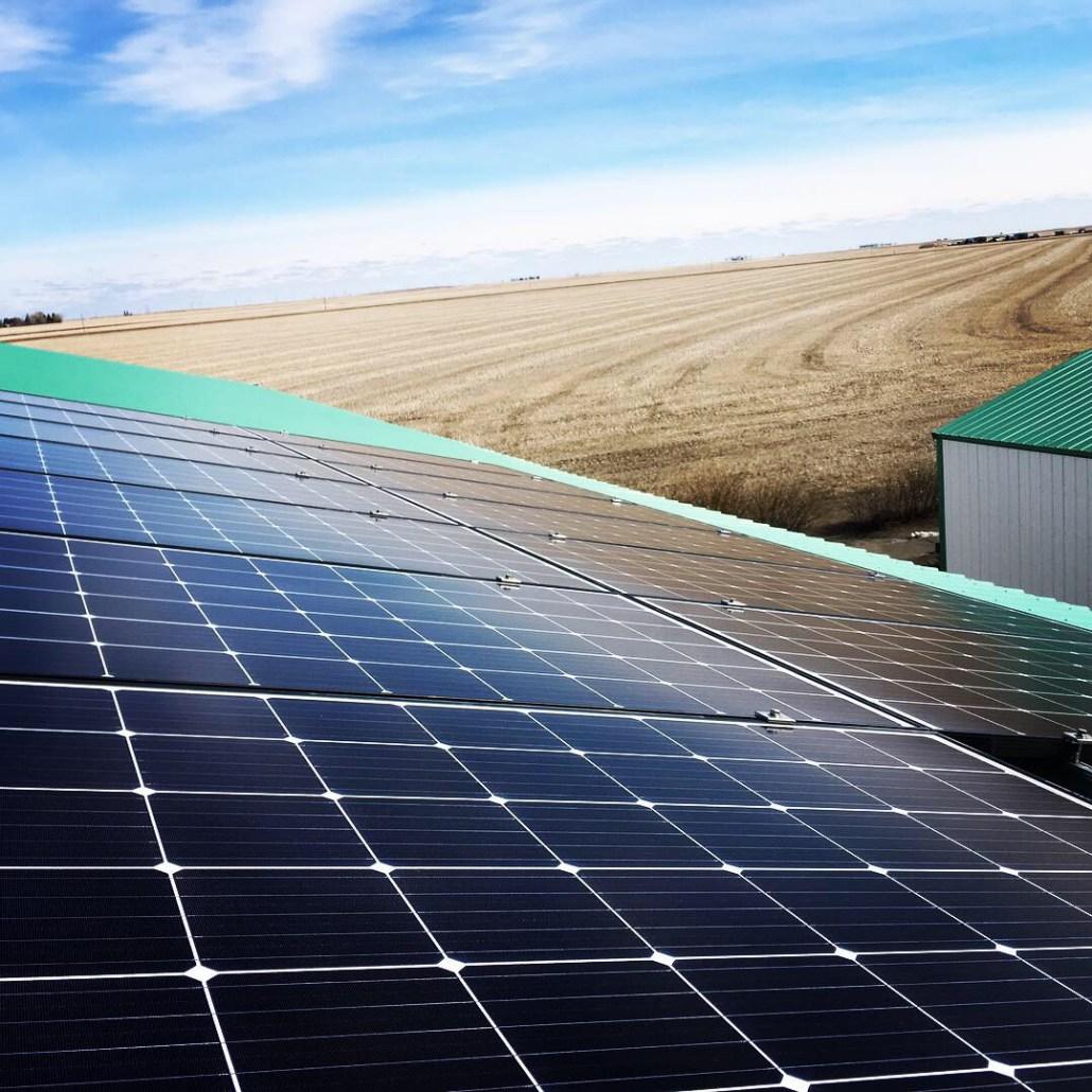 save money on the farm, install solar panels