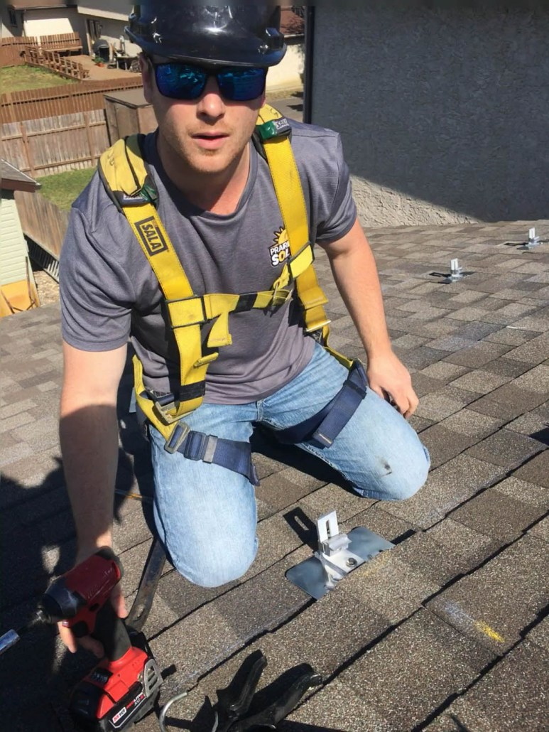 safety first when installing solar panels